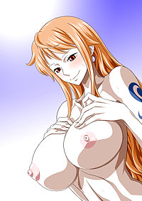 Nami being a slutty again (One Piece)